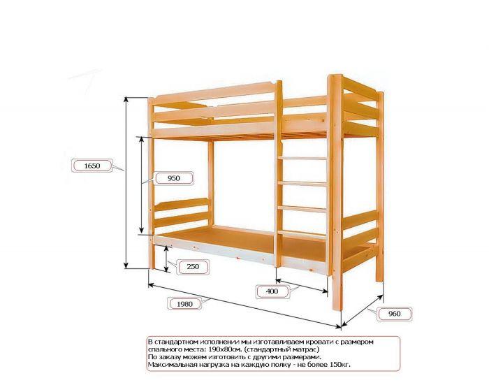 Двухъярусная кровать фото чертежи