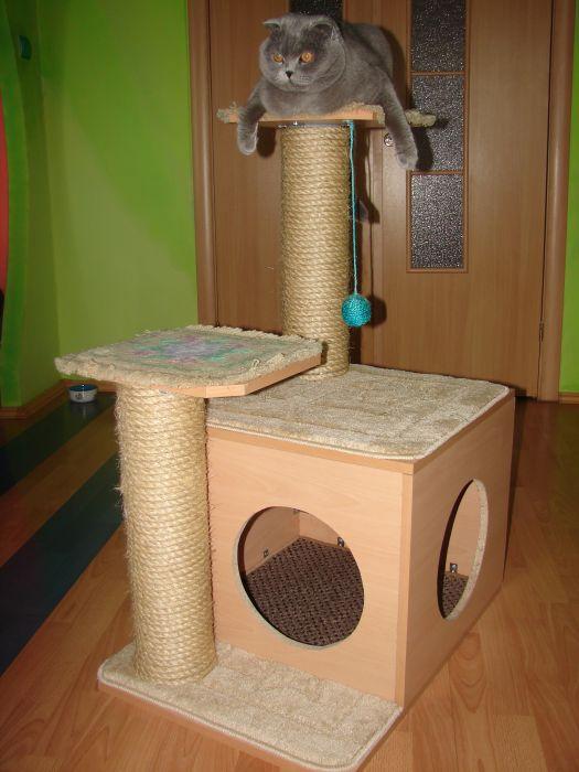 Самостоятельно дом для кошки своими руками 84
